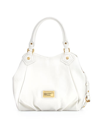 Classic Q Fran Satchel Bag, White Birch