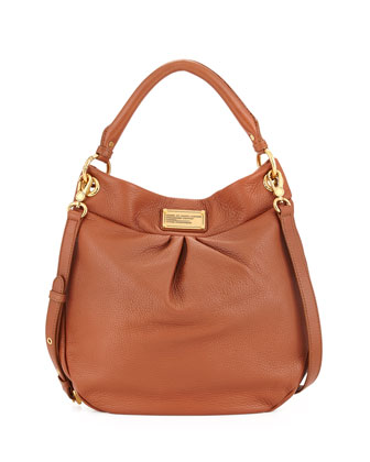 Classic Q Hillier Hobo Bag, Smoked Almond