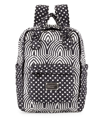 Pretty Nylon Knapsack, Black Multi