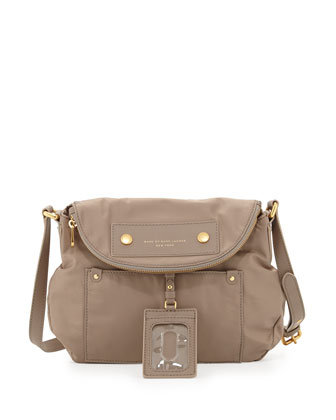 Preppy Nylon Natasha Crossbody Bag, Cement