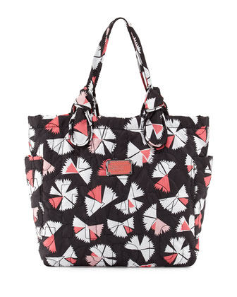 Pretty Nylon Pinwheel Tate Tote Bag, Black Multi