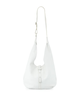City Casual Hobo with Pochette, White