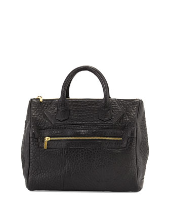 MR. Warner Satchel Bag, Black