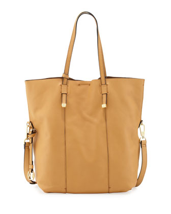 City Casual Fold-Over Tote Bag, Tan