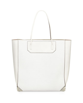 Prisma 3D Leather-Mesh Tote Bag, Cellophane
