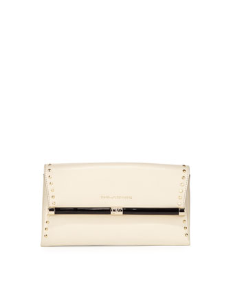 440 Studded Envelope Clutch Bag, Parchment