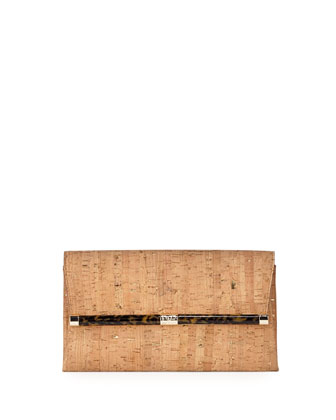 440 Cork Envelope Clutch Bag, Natural