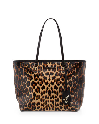 Sutra Ready to Go Tote Bag, Sandalwood Leopard