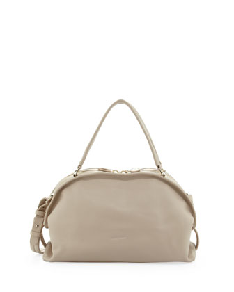 Bluebell Domed Satchel Bag, Pebble