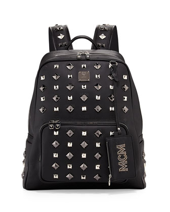 Honshu Tantris Studded Backpack, Black