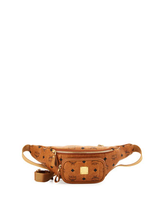Stark Leather Waist Bag, Cognac