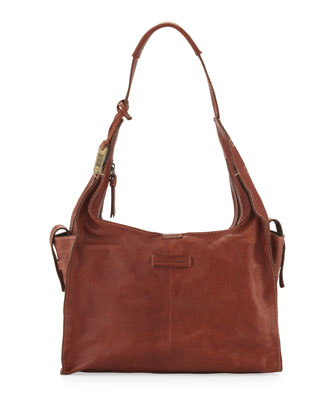 Artisan Leather Hobo Bag, Whiskey