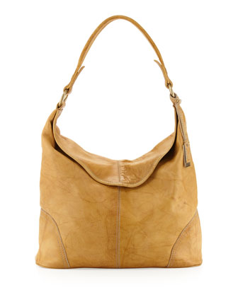 Campus Fold-Over Hobo Bag, Banana
