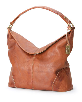 Campus Fold-Over Hobo Bag, Saddle