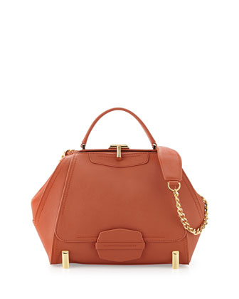 Daphne Tote-Handle Doctor Bag, Burnt Orange