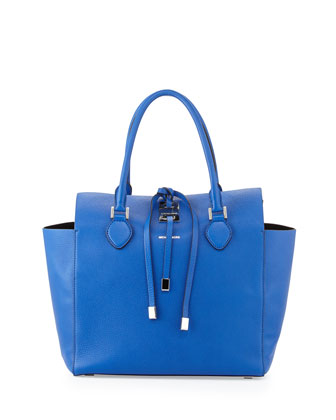 Large Miranda Grained Tote, Royal