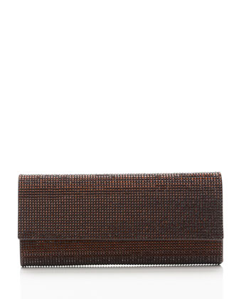 Ritz Fizz Crystal Clutch Bag, Silver Mocha