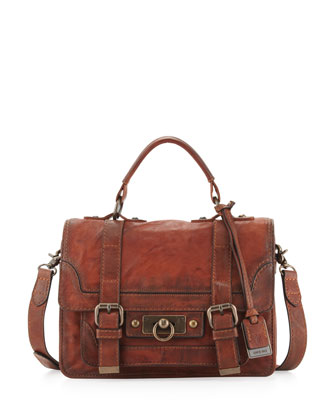 Cameron Small Satchel Bag, Cognac