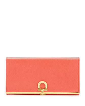 Icona Continental Flap Wallet, Morning Rose