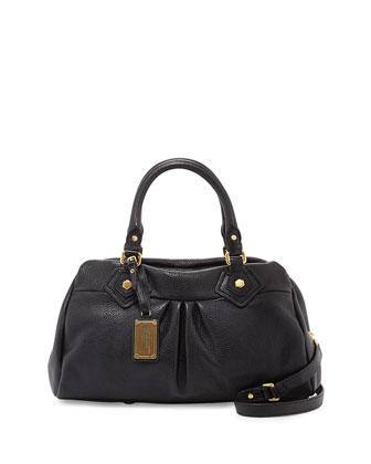 Classic Q Groovee Satchel Bag, Black