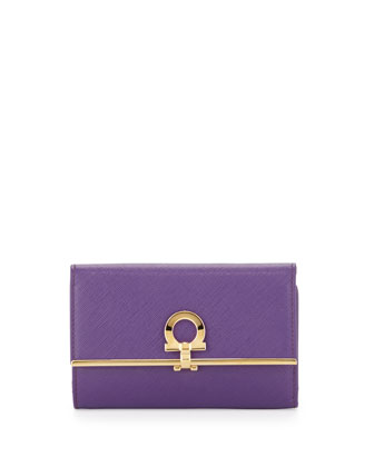 Icona Gancini French Wallet, Grape