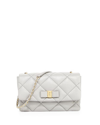 Vara Soft Quilted Shoulder Bag, Plume
