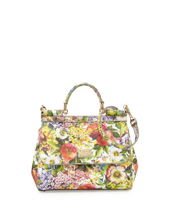 Miss Sicily Floral-Print Satchel Bag