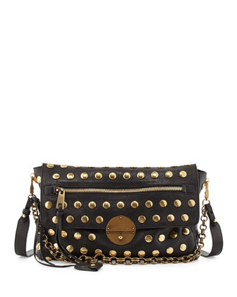 Nomad Chain-Strap Hobo Bag, Black