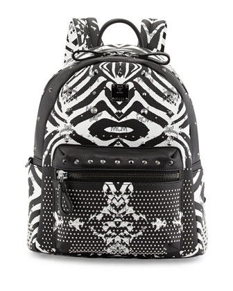 Funky Zebra Small Backpack