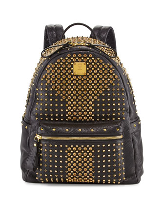 Stark Special Medium Crystal-Studded Backpack, Black