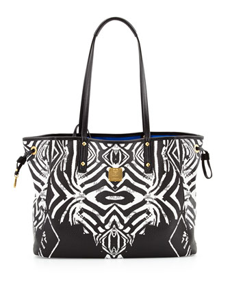 Shopper Project Reversible Tote Bag, Zebra