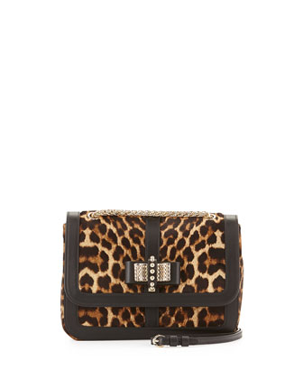 Sweet Charity Small Calf Hair Shoulder Bag, Leopard