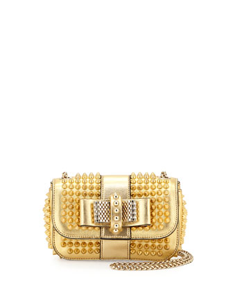 Sweet Charity Small Spiked Crossbody Bag, Gold