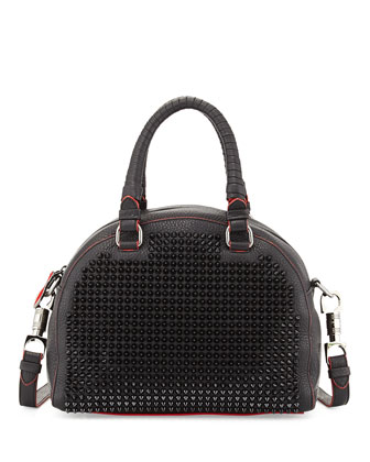 Panettone Small Spiked Satchel Bag, Black