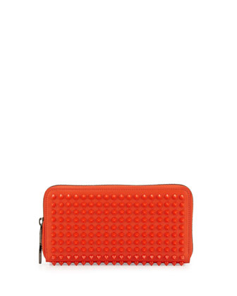 Panettone Spiked Zip Wallet, Orange
