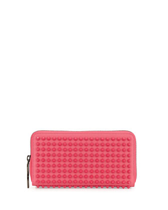 Panettone Spiked Zip Wallet, Pink