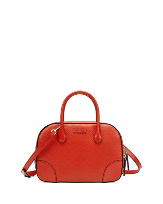 Bright Diamante Small Leather Bag, Orange