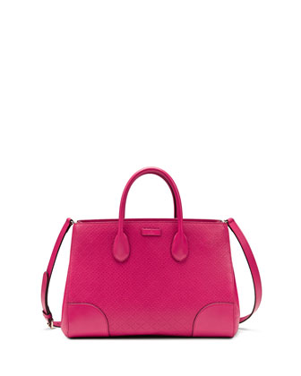 Bright Diamante Medium Bag, Fuchsia
