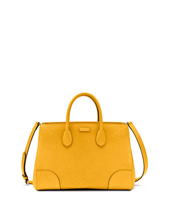 Bright Diamante Medium Bag, Yellow