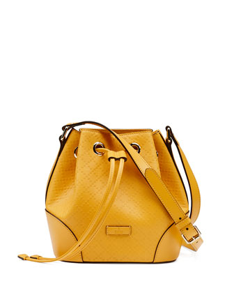 Bright Diamante Small Bucket Bag, Yellow