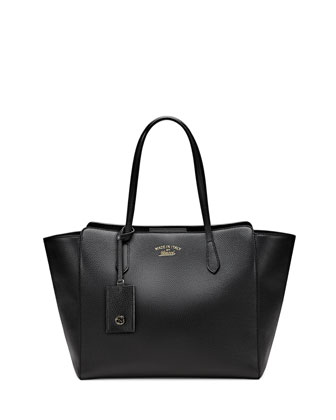 Gucci Swing Medium Tote Bag, Black