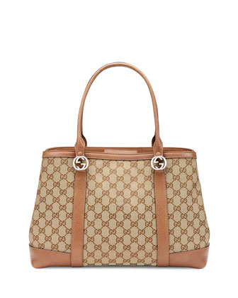 Miss GG Original GG Canvas Tote Bag, Tan