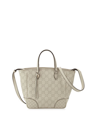 Bree Small Guccissima Tote Bag, White