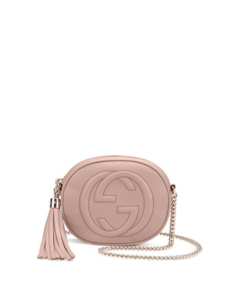 Soho Leather Mini Chain Bag, Neutral