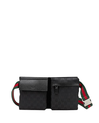 Original GG Canvas Belt Bag, Black