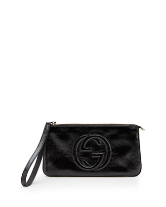 Soho Soft Patent Leather Wristlet