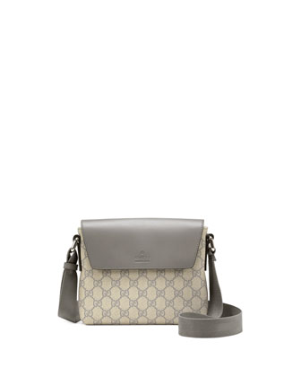 Joy GG Supreme Canvas Messenger Bag, Gray