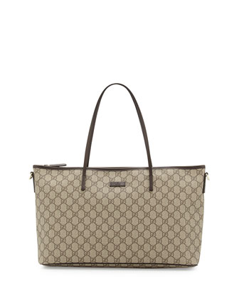 Joy GG Supreme Canvas Tote Bag, Brown