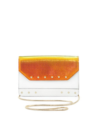Crosby Mini Iridescent Crossbody Bag, White