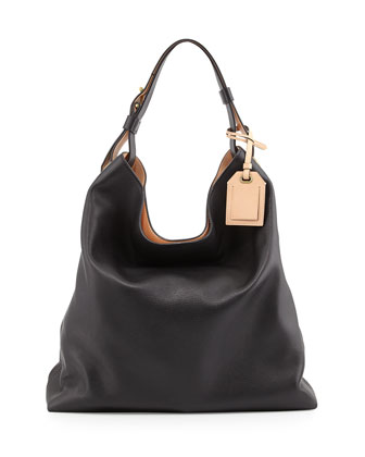 RDK Leather Hobo Bag, Black